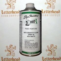 1 shot anti graffiti clear part b 4020 pint