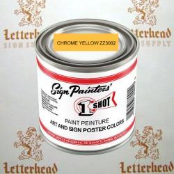 1 Shot art poster colors chrome yellow ZZ3002 quart