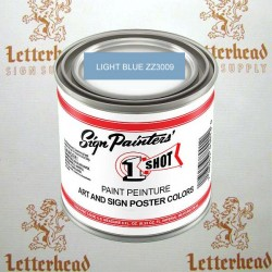 1 shot art poster colors paint light blue ZZ3009 quart