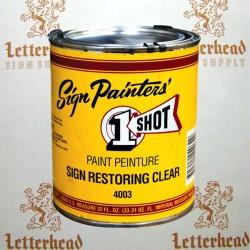 1 Shot Lettering Enamel Sign Restoring Clear Gloss 4003 - Quart