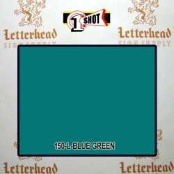 1 Shot Lettering Enamel Paint Blue Green 150L - 1/2 Pint
