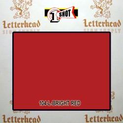 1 Shot Lettering Enamel Paint Bright Red 104L - 1/2 Pint