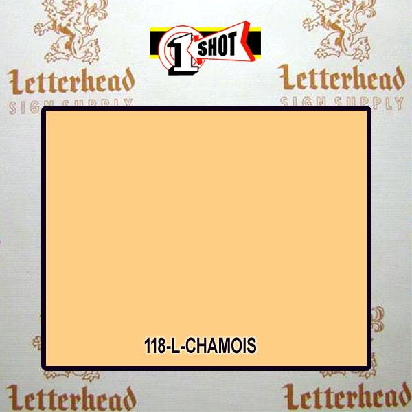 1 Shot Lettering Enamel Paint Chamois 118L - 1/2 Pint
