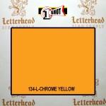 1 Shot Lettering Enamel Paint Chrome Yellow 134L - Quart
