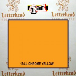 1 Shot Lettering Enamel Paint Chrome Yellow 134L - 1/2 Pint