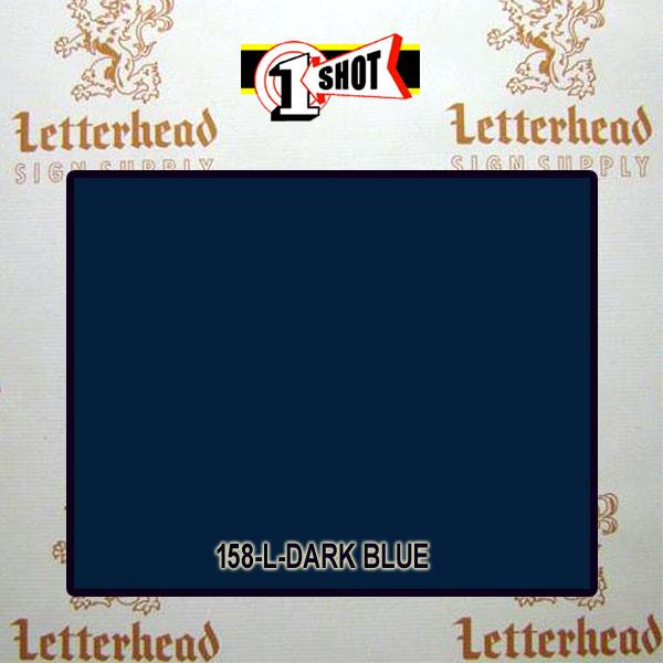 1 Shot Lettering Enamel Paint Dark Blue 158L - 1/2 Pint