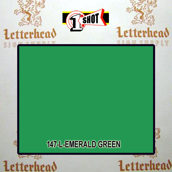1 Shot Lettering Enamel Paint Emerald Green 142L - 1/2 Pint