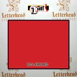 1 Shot Lettering Enamel Paint Fire Red 102L - 1/2 Pint