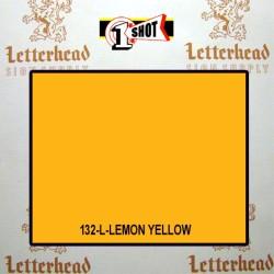 1 Shot Lettering Enamel Paint Lemon Yellow 132L - 1/2 Pint