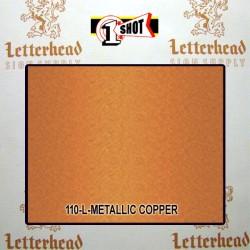 1 Shot Lettering Enamel Paint Metallic Copper 110L - 1/2 Pint