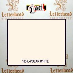 1 Shot Lettering Enamel Paint Polar White 103L - 1/4 Pint
