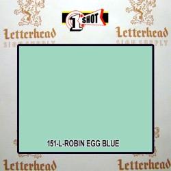 1 Shot Lettering Enamel Paint Robin Egg Blue 151L - 1/2 Pint