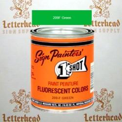 1 Shot Lettering Enamel Paint Green 209F - Quart