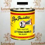 1 Shot Lettering Enamel Paint Black 199L-Pint