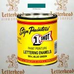 1 Shot Lettering Enamel Paint Blue Green 150L - Quart