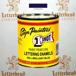 1 Shot Lettering Enamel Paint Brilliant Blue 156L - Pint