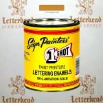 1 Shot Lettering Enamel Paint Imitation Gold 191L - Pint