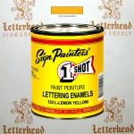 1 Shot Lettering Enamel Paint Lemon Yellow 132L - Pint
