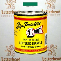 1 Shot Lettering Enamel Paint Process Green 143L - Pint