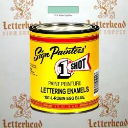 1 Shot Lettering Enamel Paint Robin Egg Blue 151L - Pint