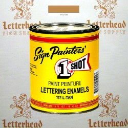 1 Shot Lettering Enamel Paint Tan 117L - Pint