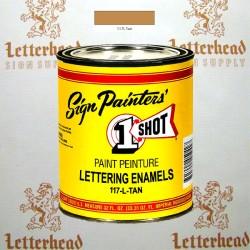 1 Shot Lettering Enamel Paint Tan 117L - Quart