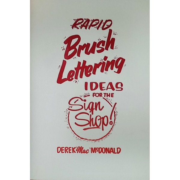 80's Rapid Brush Lettering Ideas for the Sign Shop- Book