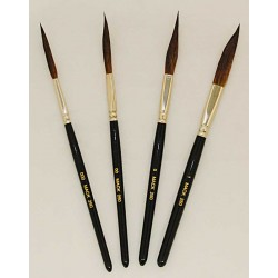 series 251-Long Raw Handle Sword Pinstriping Brushes