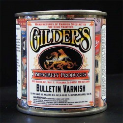 Gilders Bulletin Spar Varnish Gold Leaf Clear Coat-quart