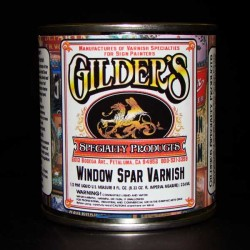 Gilders Window Spar Varnish Clear Coat-half pint