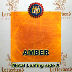 Amber Variegated Metal Leaf