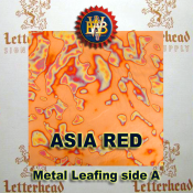 Asia Red Variegated Metal Leaf