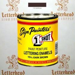 1 Shot Lettering Enamel Paint Dark Brown 115L - Quart