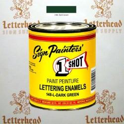 1 Shot Lettering Enamel Paint Dark Green 148L - Quart