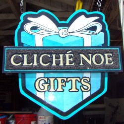Cliche Noe sign painter demonstration